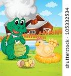 illustration of farm house ... | Shutterstock .eps vector #105332534