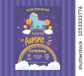 happy birthday invitation card... | Shutterstock .eps vector #1053333776