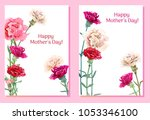 set of templates for mother's... | Shutterstock .eps vector #1053346100