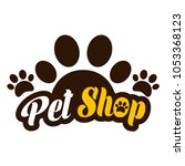 Stock vector pet shop logo template 1053368123