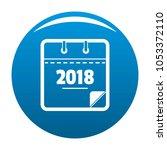 calendar new year icon blue...