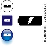 battery symbol sign and button   Shutterstock .eps vector #1053372584