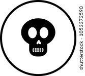 cartoon skull symbol   Shutterstock .eps vector #1053372590