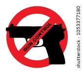 gun control illustration in... | Shutterstock .eps vector #1053377180