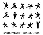 person basic exercise language... | Shutterstock .eps vector #1053378236