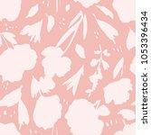 modern watercolor flowers... | Shutterstock . vector #1053396434