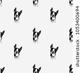 dog pattern seamless pattern... | Shutterstock .eps vector #1053400694
