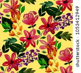 watercolor seamless pattern... | Shutterstock . vector #1053412949