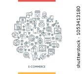 e commerce concepte. modern... | Shutterstock .eps vector #1053413180
