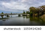 autumn landscape with trees... | Shutterstock . vector #1053414260