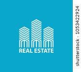 real estate logo design vector...   Shutterstock .eps vector #1053422924