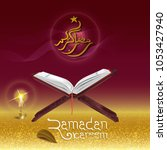 design cover ramadan kareem... | Shutterstock .eps vector #1053427940