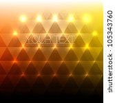 shiny abstract triangles... | Shutterstock .eps vector #105343760