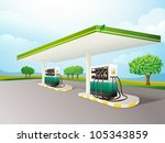illustration of a gas station... | Shutterstock .eps vector #105343859
