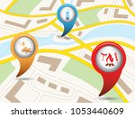 set of tourism services map... | Shutterstock .eps vector #1053440609