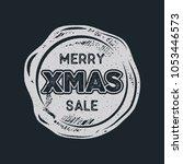 merry christmas sale lettering...   Shutterstock . vector #1053446573