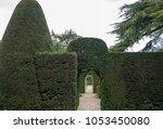 natural arch doorway entrance... | Shutterstock . vector #1053450080