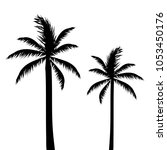 abstract palm trees vector... | Shutterstock .eps vector #1053450176