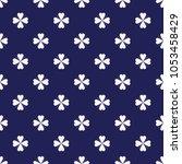 seamless porcelain indigo blue... | Shutterstock .eps vector #1053458429
