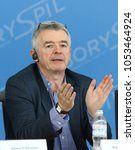 Small photo of BORYSPIL, UKRAINE - MARCH 23, 2018: Ryanair's Chief Executive Officer Michael O'Leary makes a speech during Ryanair official Press-conference at Kyiv Boryspil Airport dedicated to Ukraine market entry