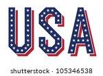 Vector Word Of Usa  Eps10.