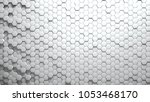 abstract hexagons background... | Shutterstock . vector #1053468170