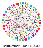 multicolored quote bang cluster.... | Shutterstock .eps vector #1053470030