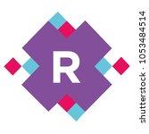 rhythm r typography geometric... | Shutterstock .eps vector #1053484514