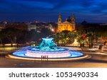Triton Fountain In The Evening...
