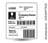 shipping label template | Shutterstock .eps vector #1053497933