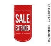 sale extended  banner design on ... | Shutterstock .eps vector #1053504539