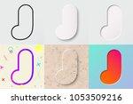 vector illustration set of cute ... | Shutterstock .eps vector #1053509216