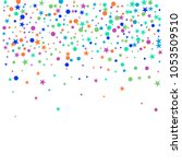 colorful polka confetti dotted... | Shutterstock .eps vector #1053509510