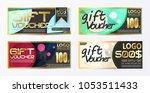gift certificate voucher coupon ... | Shutterstock .eps vector #1053511433
