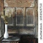 rustic spring interior scene.... | Shutterstock . vector #1053525713