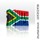 3d vector south africa word... | Shutterstock .eps vector #105352958