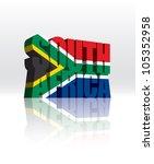 3d vector south africa word... | Shutterstock .eps vector #105352958