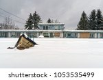 abandoned and neglected motel...   Shutterstock . vector #1053535499