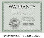 green warranty certificate...   Shutterstock .eps vector #1053536528