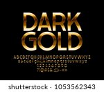 vector dark gold chic label.... | Shutterstock .eps vector #1053562343