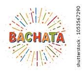 bachata vector logotype.... | Shutterstock .eps vector #1053567290