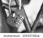 wedding beautiful lock with... | Shutterstock . vector #1053572816