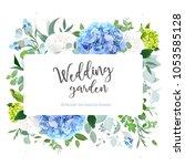 spring wedding vector design... | Shutterstock .eps vector #1053585128