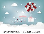 happy valentines day and... | Shutterstock .eps vector #1053586106