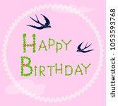 vector llustration of happy... | Shutterstock .eps vector #1053593768