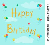 vector llustration of happy... | Shutterstock .eps vector #1053593954