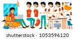 junior business man character... | Shutterstock .eps vector #1053596120