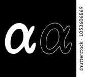 symbol alpha icon set white... | Shutterstock .eps vector #1053606869