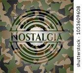 nostalgia camouflage emblem | Shutterstock .eps vector #1053609608