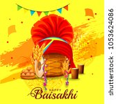illustration of happy baisakhi... | Shutterstock .eps vector #1053624086